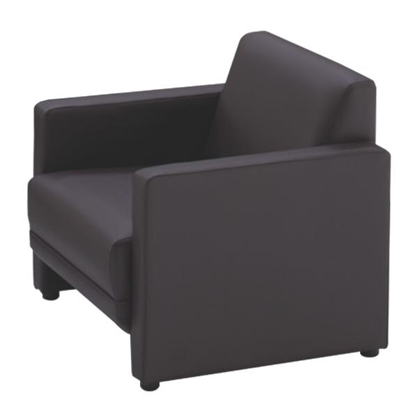 応接家具/アームチェアー/幅650×奥行730×高さ690mm/ブラウン/ジョイシリーズ/16676