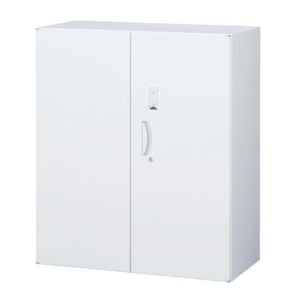 両開き書庫/下置用/カード認証タイプ/RW45-D10H-S/幅900×奥行450×高さ1050/ホワイト/クウォールRWシリーズ/58974