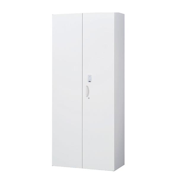 両開き書庫/下置用/カード認証タイプ/RW45-21H-S/幅900×奥行450×高さ2100/ホワイト/クウォールRWシリーズ/58975
