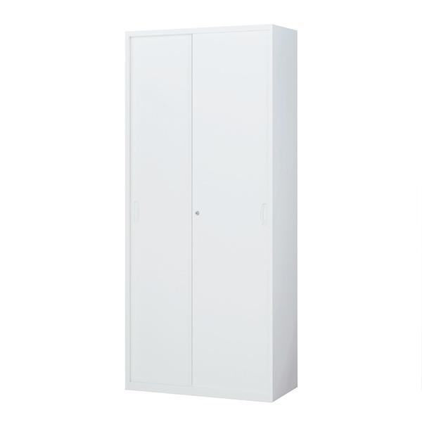 スチール引戸書庫/下置用/RW45-21S/幅900×奥行450×高さ2100/ホワイト/クウォールRWシリーズ/58980