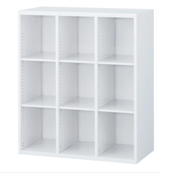 3列オープン書庫/上下兼用/RW45-310K/幅900×奥行450×高さ1050/ホワイト/クウォールRWシリーズ/59905