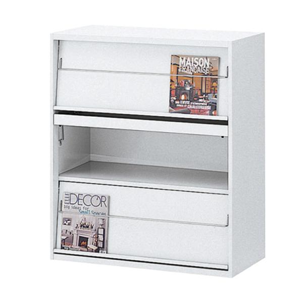 雑誌架/下置用/RW45-10Z/幅900×奥行450×高さ1050/ホワイト/クウォールRWシリーズ/59906