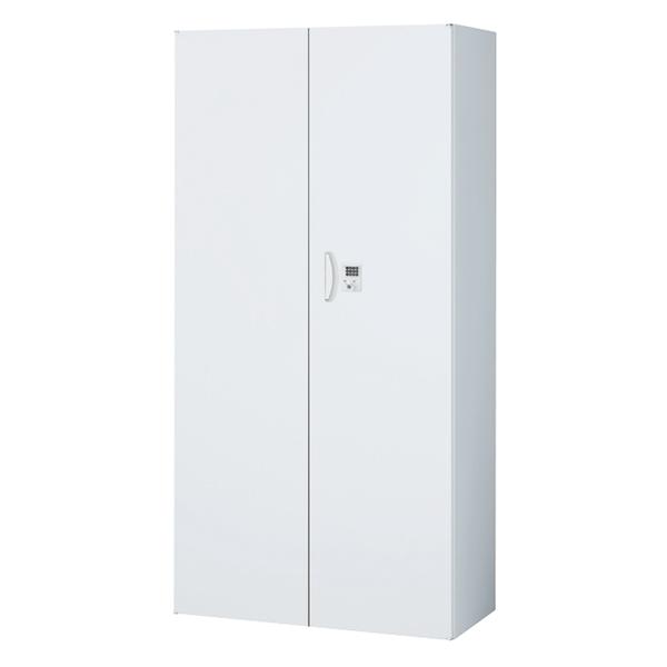 両開き書庫/下置用/ボタン錠/RW45-18H-B/幅900×奥行450×高さ1800/ホワイト/クウォールRWシリーズ/60279