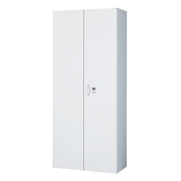 両開き書庫/下置用/ボタン錠/RW45-21H-B/幅900×奥行450×高さ2100/ホワイト/クウォールRWシリーズ/60280