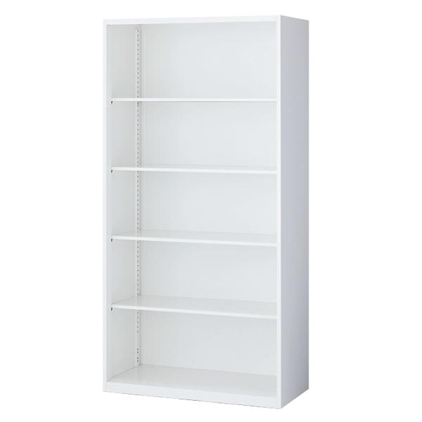 オープン書庫/下置用/RW5-18K/幅900×奥行500×高さ1800/ホワイト/クウォールRWシリーズ/62557