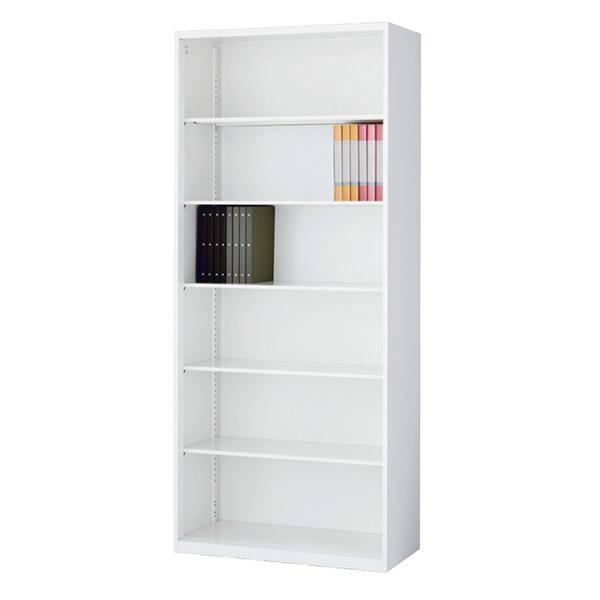 オープン書庫/下置用/RW5-21K/幅900×奥行500×高さ2100/ホワイト/クウォールRWシリーズ/62558