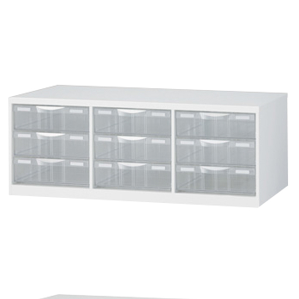 書庫内プラスチックキャビネット/RW-B4PL/幅856×奥行400×高さ318/ホワイト/クウォールRWシリーズ/62592