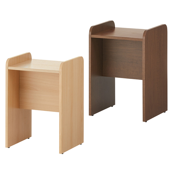 【奥行390】木製手荷物置き台/CELVO-BGST/2色/幅400×奥行390×高さ598mm/セルボシリーズ/660051