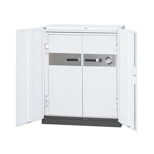 両開き耐火書庫/下置用/RW45-N11HTF/幅900×奥行450×高さ1110/ホワイト/クウォールRWシリーズ/72111