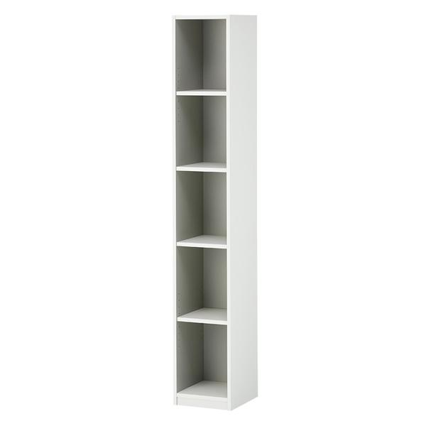 木製オープン書庫/5段スリム/780010/幅300×奥行350×高さ1874mm/ホワイト/ペスパシリーズ