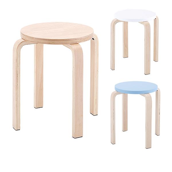 木製丸椅子/810160