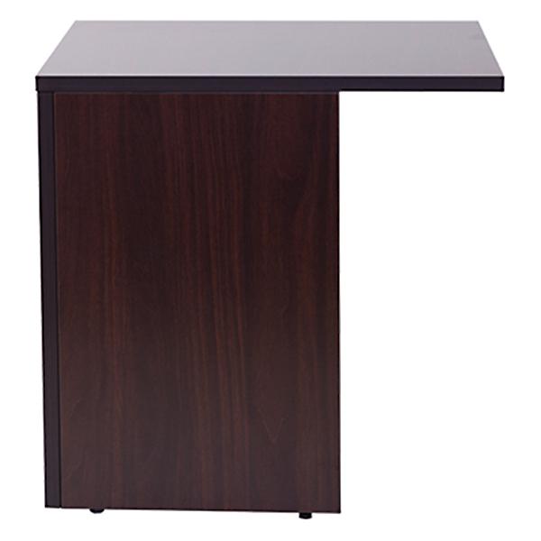 サイドテーブル/ネクシスデスク幅1800mm専用/左右兼用/幅580×奥行700×高さ72mm/ダークウォルナット/ネクシスシリーズ/813012
