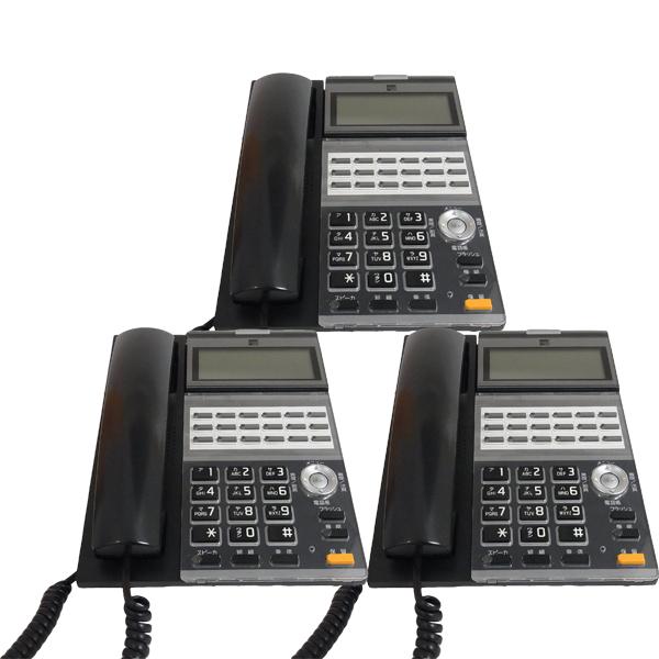 中古ビジネスフォン/3台セット/サクサ/ブラック/950002/GTシリーズ