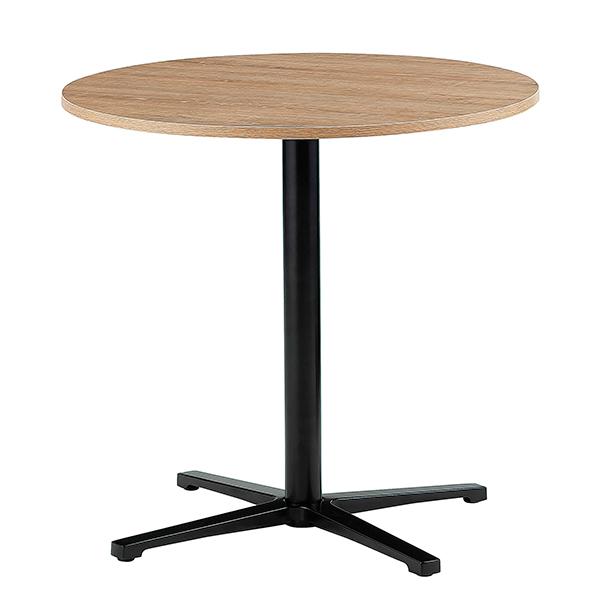 ミーティングテーブル/カフェテーブル/丸型/脚色ブラック/ABW-750M-FO/幅750×奥行750×高さ720mm/天板フォレスト色/ABWシリーズ/1001468