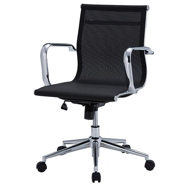 オフィスチェア/肘付/メッシュタイプ/APS-M01/ブラック/APSシリーズ/1001349