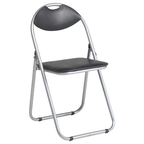 パイプ椅子/ベーシック/CO-002B/ブラック/416156