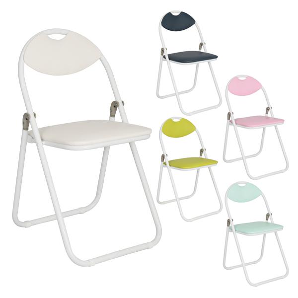 パイプ椅子/ホワイトフレーム/CO-005W/416144