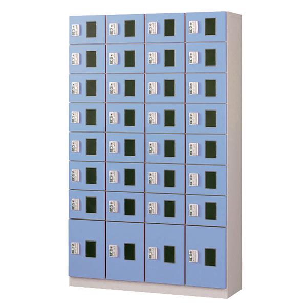 コイン(リターン式)/4列8段窓付/ブルー色CRK-S32-B