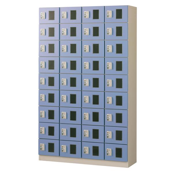 コイン(リターン式)/4列9段窓付/ブルー色CRK-S36-B