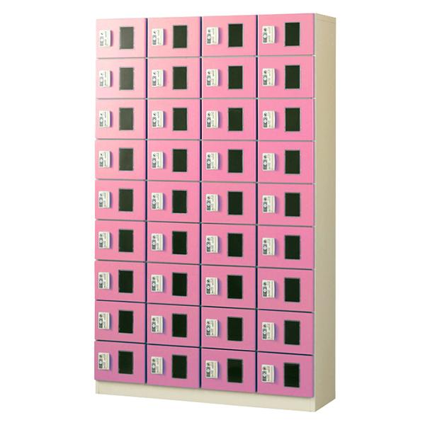 コイン(リターン式)/4列9段窓付/ピンク色CRK-S36-P