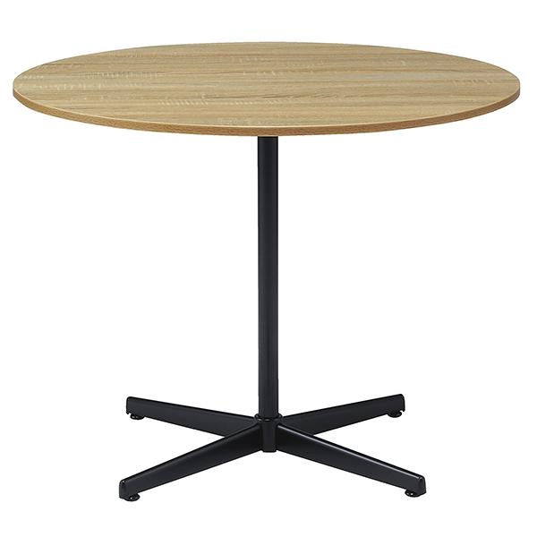 ミーティングテーブル/丸型/天板古木色×ブラック脚/DRT-900M-KK/幅900×奥行900×高さ700mm/1001323
