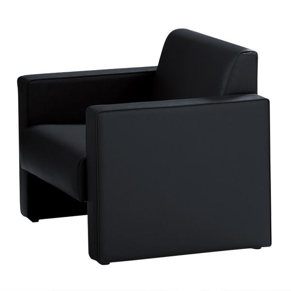 応接家具/アームチェアー/FS-190AC-BK/幅730×奥行720×高さ680mm/ブラック/FS-190シリーズ/13229