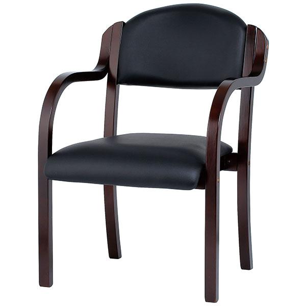 木製チェア/肘付/IKD-B01-VBK/ブラック/IKD-Bシリーズ/1000936