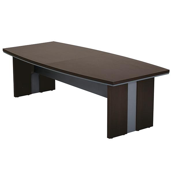 会議用テーブル/MTB-2411/幅2400×奥行1100×高さ720mm/ダークブラウン/MTBシリーズ/1000624