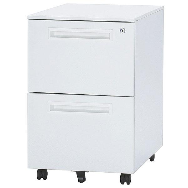スチールワゴン/2段/ODW-2/幅397×奥行550×高さ616mm/ホワイト/ODWシリーズ/1000460