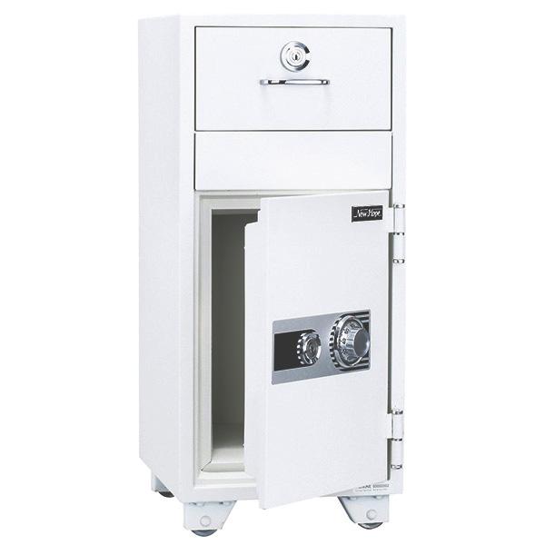投入式耐火金庫/ダイヤルタイプ/PHDI-80ND/ホワイト/PHDIシリーズ/1000713