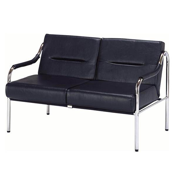 応接家具/2人掛けチェアー/RC-2030SF/幅1130×奥行720×高さ400mm/ブラック/12147