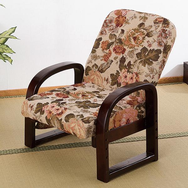 座椅子/背3段階リクライニング付/TKIN-5661AK/幅560×奥行460×高さ690mm/1000692