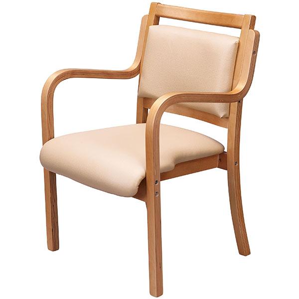 木製チェア/肘付/UFW-C5-BE/ベージュ/UFWシリーズ/1000942
