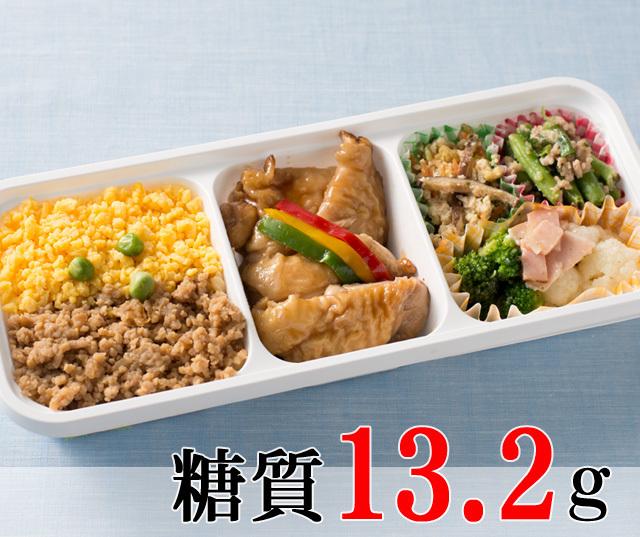 照り焼きチキンと鶏そぼろのランチ [大豆米]