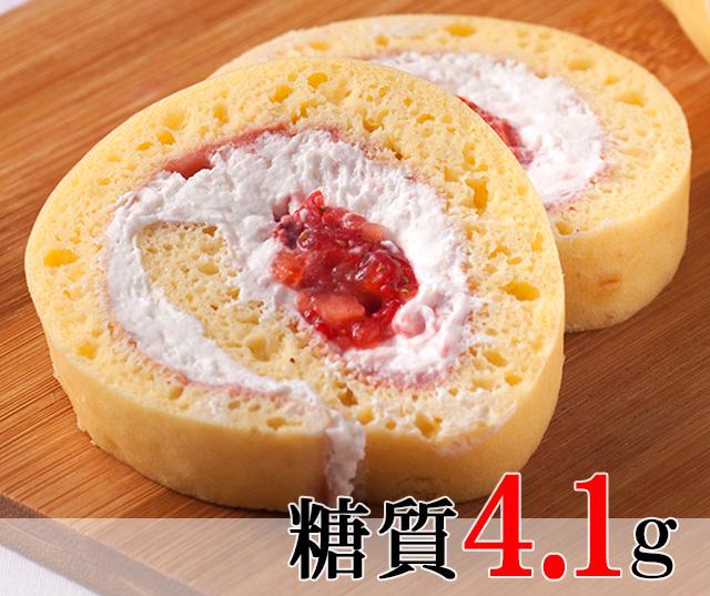 お手軽サイズでリニューアル 苺クリームのロールケーキ