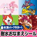 【ラミネート おなまえシール ぼんぼんりぼん・ポケモン・ドラゴンボール・妖怪ウォッチ