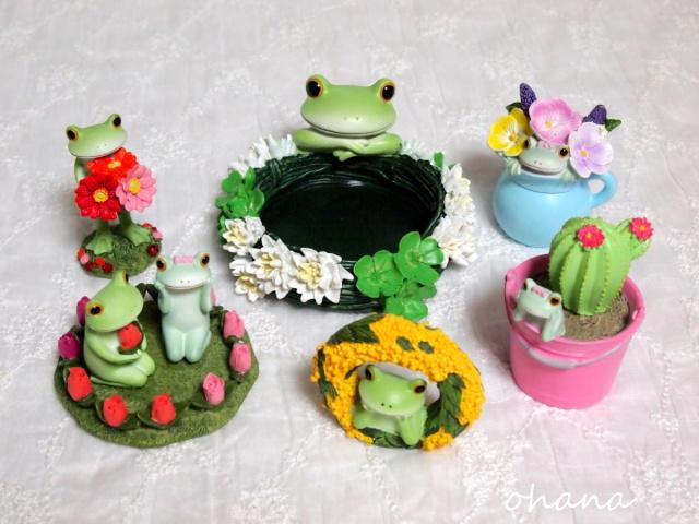 カエルとお花