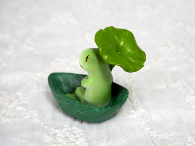 葉っぱボートで出発