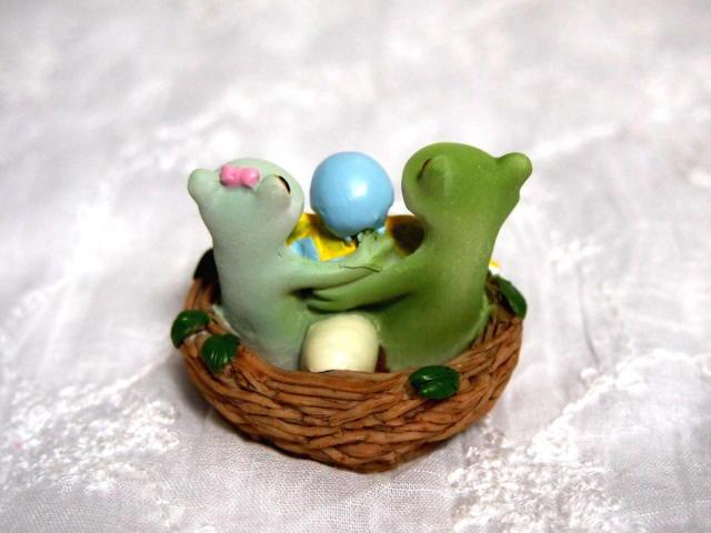 カップルと小鳥