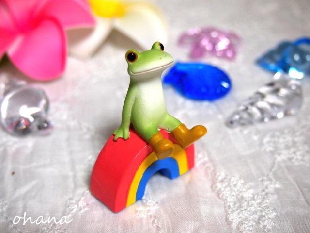 虹の上のカエル