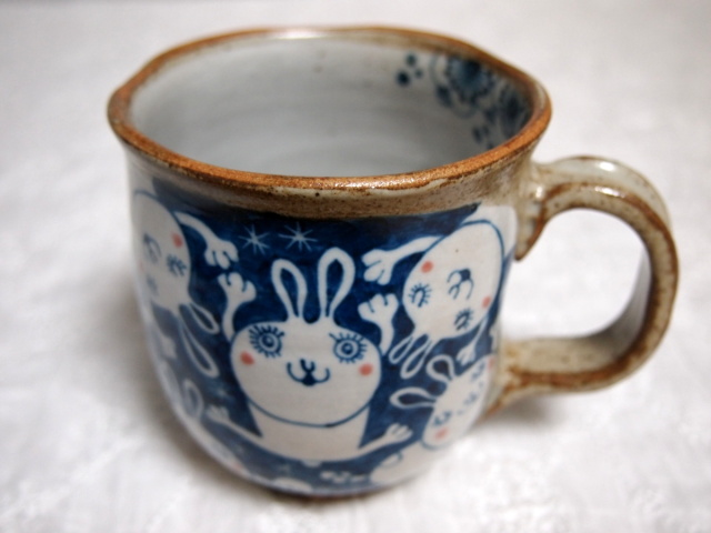ウサギのマグカップ