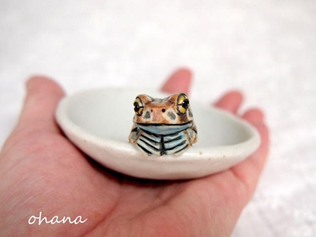 ミルキーフロッグの豆皿