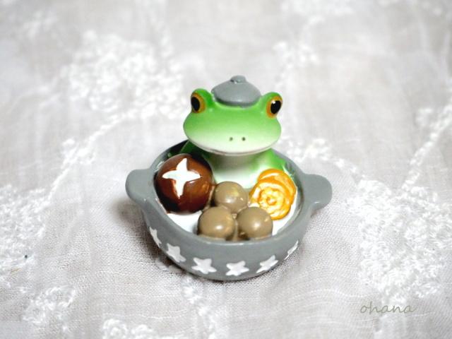お鍋の中からカエル