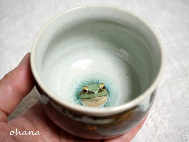 アマガエルの湯呑み
