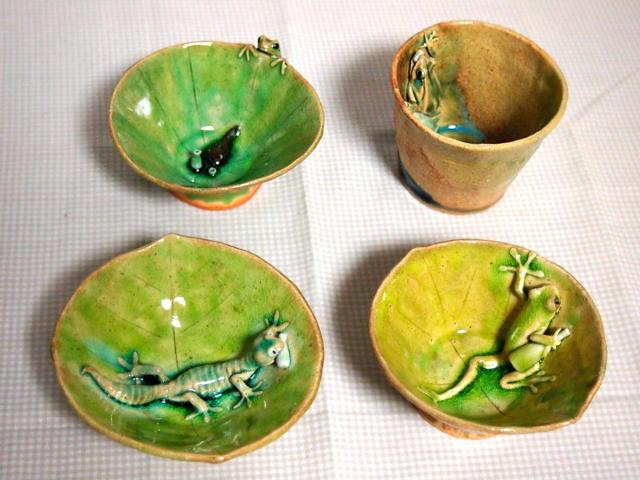 蛙庵の陶器