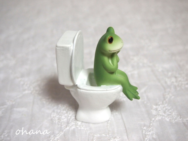 トイレとカエル
