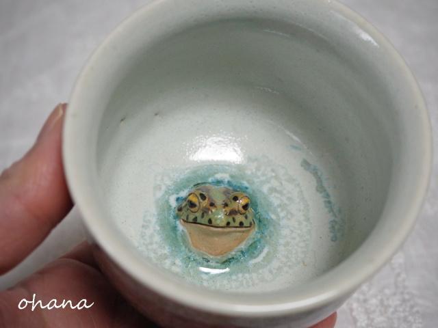 トノサマガエル湯呑み