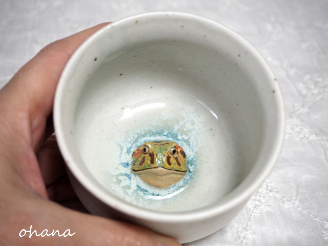 ベルツノガエル湯呑み