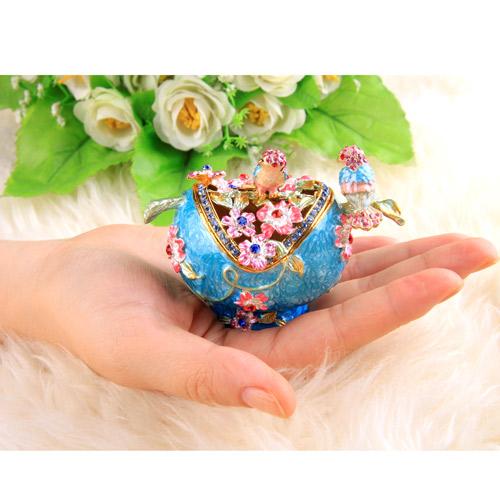 宝石箱「鳥と花」