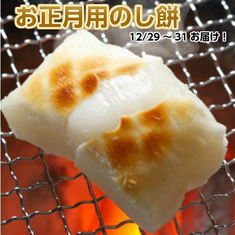 【送料無料】お正月用「のし餅」2kg